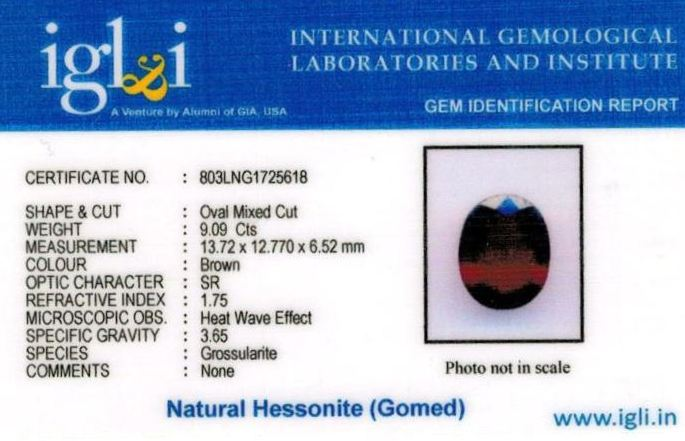 10.25-ratti-certified-hessonite-gomed-stone Certificate (ID-215)