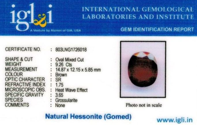 10.25-ratti-certified-hessonite-gomed-stone Certificate (ID-218)