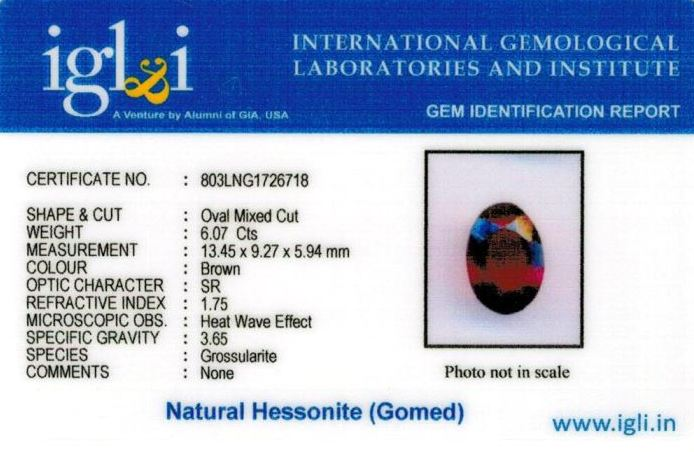 7-ratti-certified-hessonite-gomed-stone Certificate (ID-207)