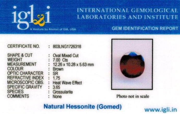 8-ratti-certified-hessonite-gomed-stone Certificate (ID-223)