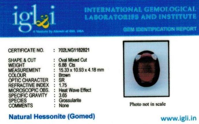 8-ratti-certified-hessonite-gomed-stone Certificate (ID-230)