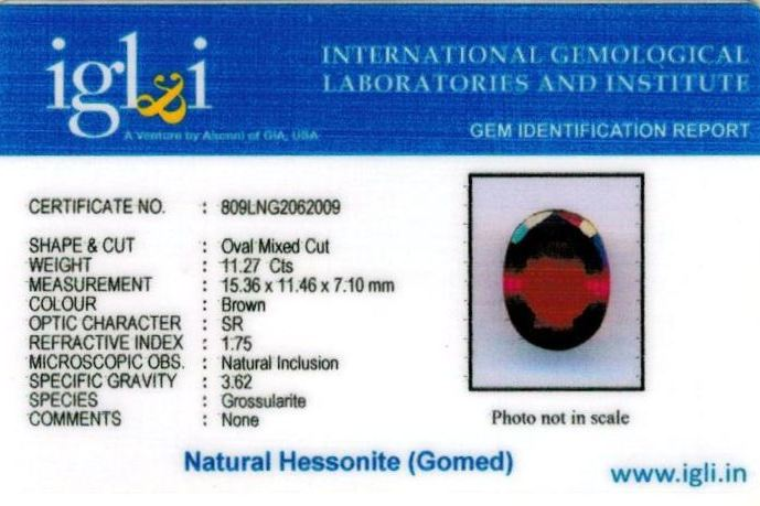 13-ratti-certified-hessonite-gomed-stone Certificate (ID-238)