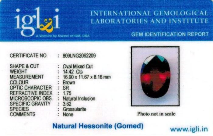 16.25-ratti-certified-hessonite-gomed-stone Certificate (ID-243)