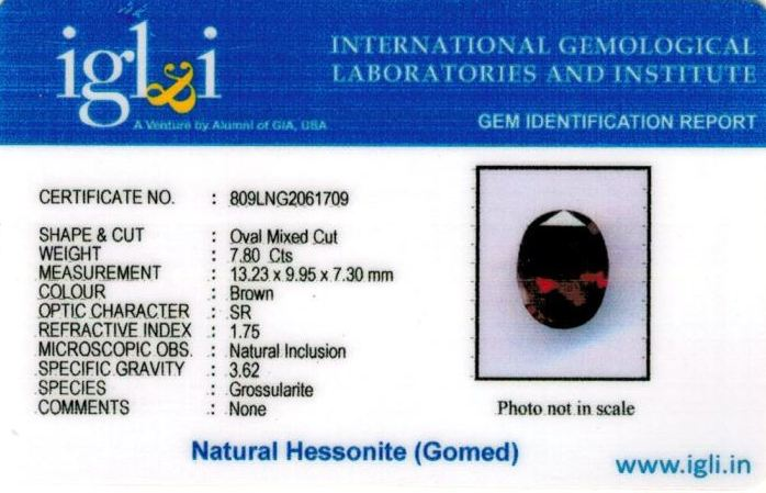 9-ratti-certified-hessonite-gomed-stone Certificate (ID-255)