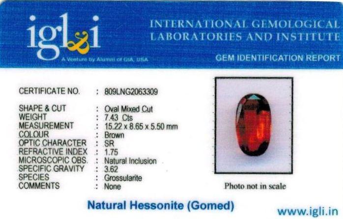 8.25-ratti-certified-hessonite-gomed-stone Certificate (ID-244)