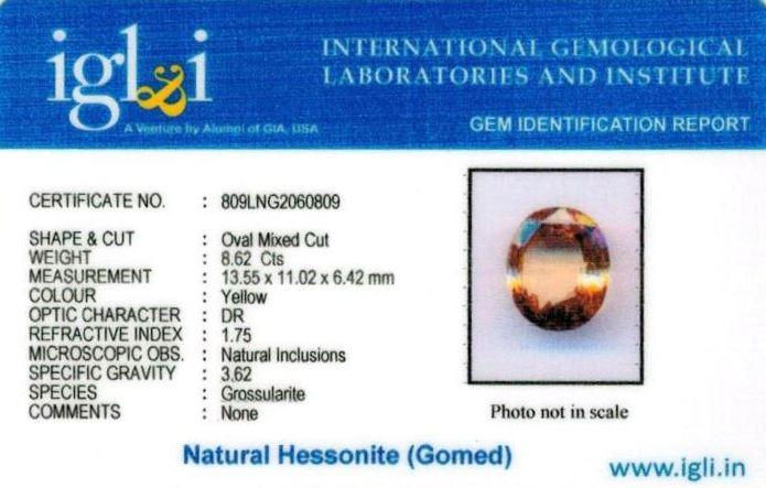 10-ratti-certified-yellow-hessonite-gomed Certificate (ID-276)