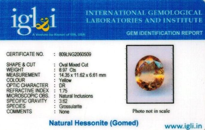 10-ratti-certified-yellow-hessonite-gomed Certificate (ID-278)
