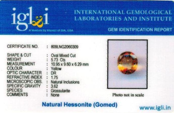 6.25-ratti-certified-yellow-hessonite-gomed Certificate (ID-265)
