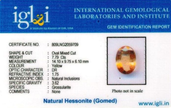9-ratti-certified-yellow-hessonite-gomed Certificate (ID-270)