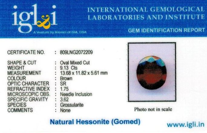 10.25-ratti-certified-hessonite-gomed Certificate (ID-309)