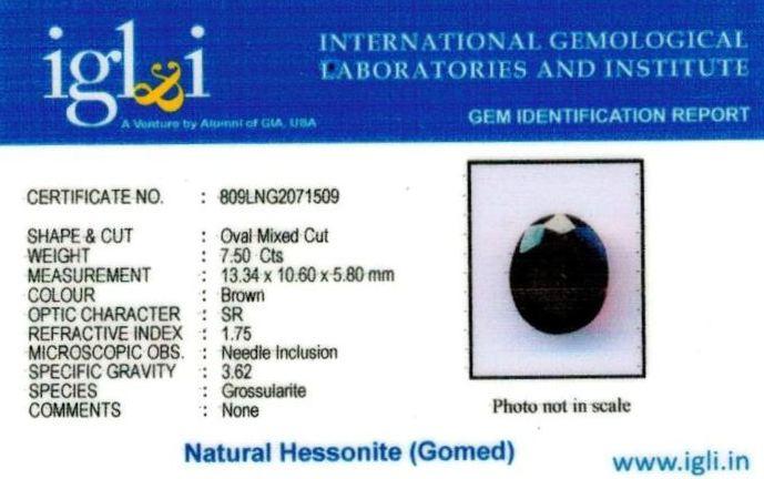 8.25-ratti-certified-hessonite-gomed Certificate (ID-297)