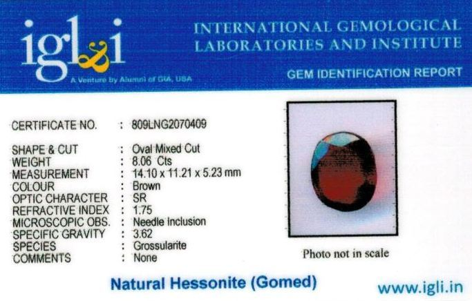 9-ratti-certified-hessonite-gomed Certificate (ID-303)