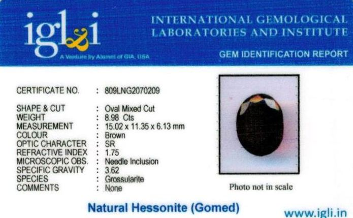 10-ratti-certified-hessonite-gomed Certificate (ID-307)
