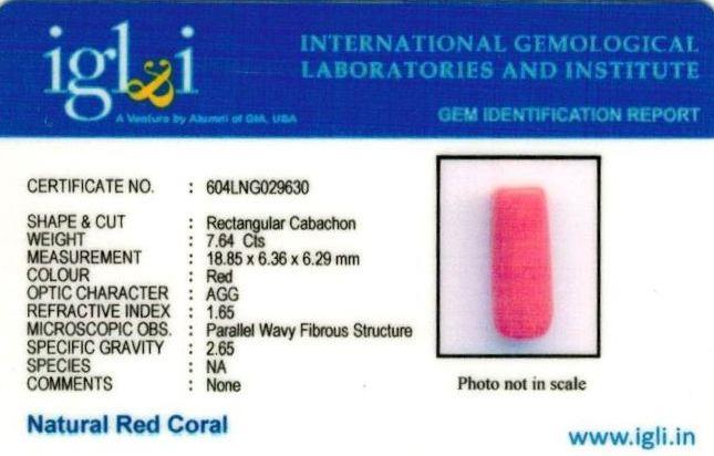 8.49-ratti-certified-red-coral-gemstone Certificate (ID-258)
