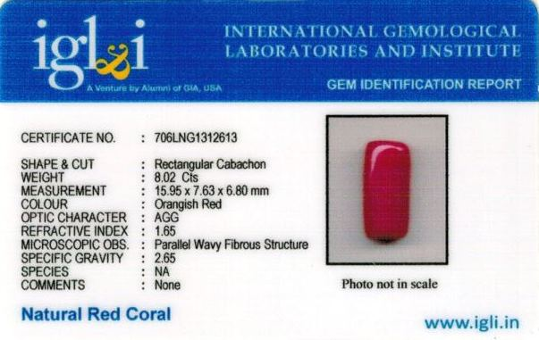 8.91-ratti-certified-red-coral-stone Certificate (ID-264)