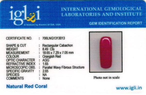 9.43-ratti-certified-red-coral-stone Certificate (ID-268)