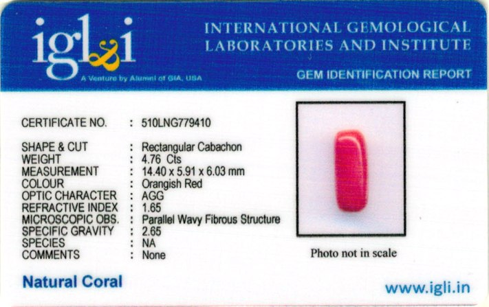 5.29-ratti-certified-red-coral-gemstone Certificate (ID-216)