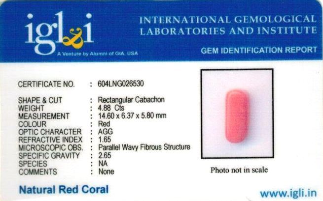 5.42-ratti-certified-red-coral-gemstone Certificate (ID-125)