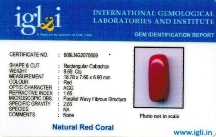 10-ratti-certified-red-coral-stone Certificate (ID-300)