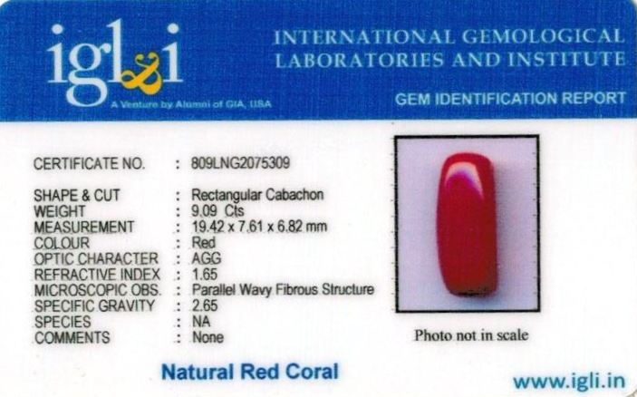 10.25-ratti-certified-red-coral-stone Certificate (ID-302)