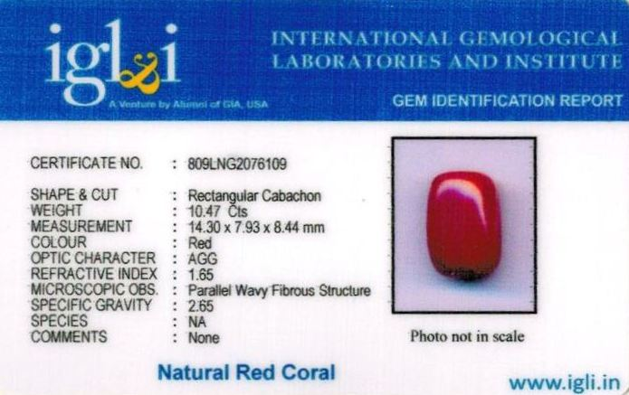 12-ratti-certified-red-coral-stone Certificate (ID-289)