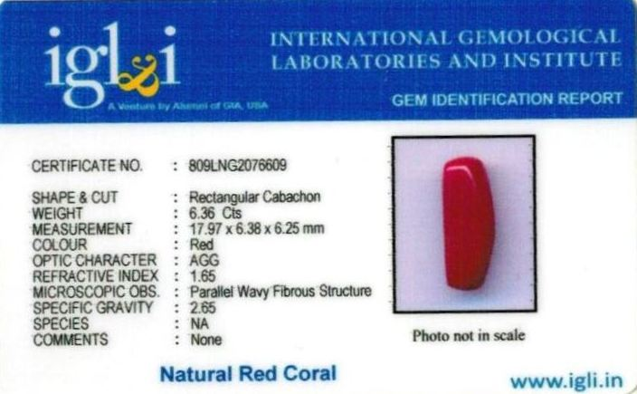 7.25-ratti-certified-red-coral-stone Certificate (ID-292)