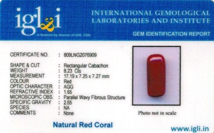 9.25-ratti-certified-red-coral-stone Certificate (ID-295)