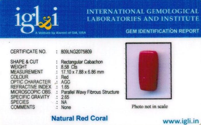 10-ratti-certified-red-coral-stone Certificate (ID-297)