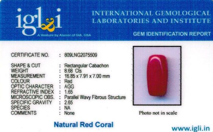 10-ratti-certified-red-coral-stone Certificate (ID-299)
