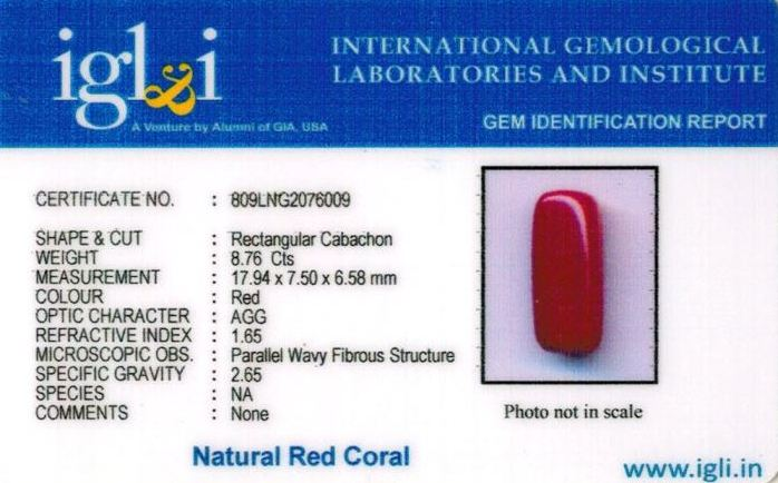 10-ratti-certified-red-coral-stone Certificate (ID-301)