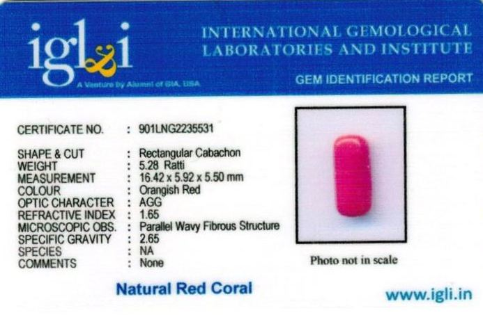 5.25-ratti-certified-red-coral Certificate (ID-315)