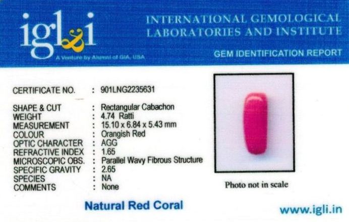 5-ratti-certified-red-coral Certificate (ID-306)
