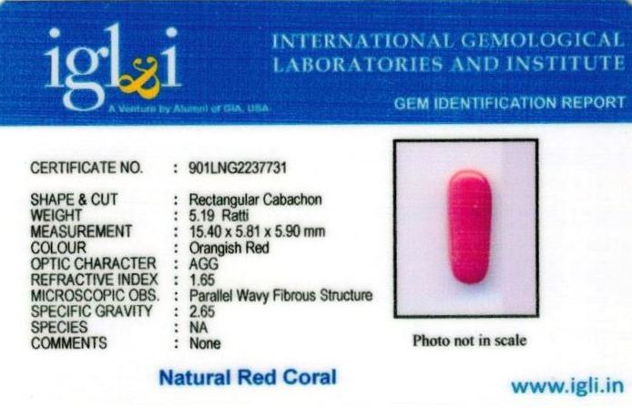5.25-ratti-certified-red-coral Certificate (ID-312)