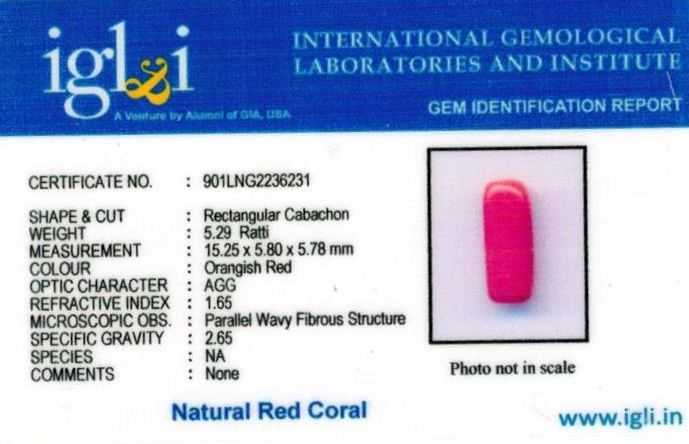 5.25-ratti-certified-red-coral Certificate (ID-316)