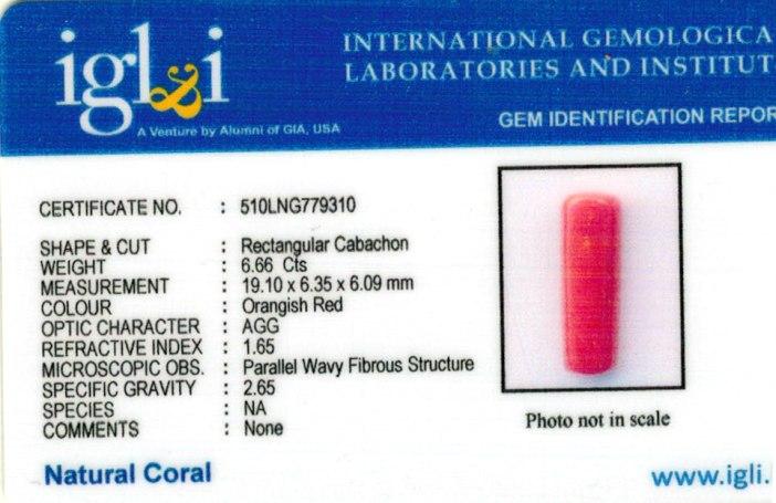 7.4-ratti-certified-red-coral-gemstone Certificate (ID-220)