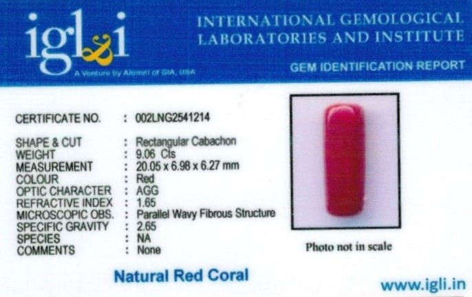 10.25-ratti-certified-red-coral Certificate (ID-341)