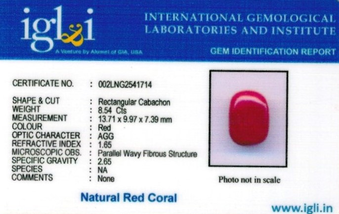 9.25-ratti-certified-red-coral Certificate (ID-339)