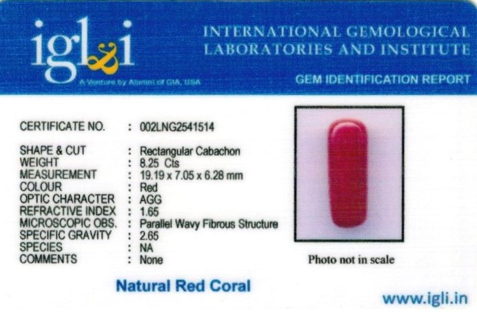 9.25-ratti-certified-red-coral Certificate (ID-338)