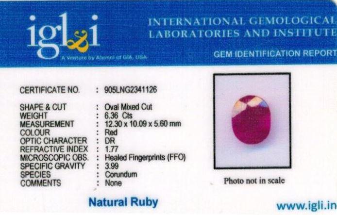 7.25-ratti-certified-ruby-stone Certificate (ID-234)