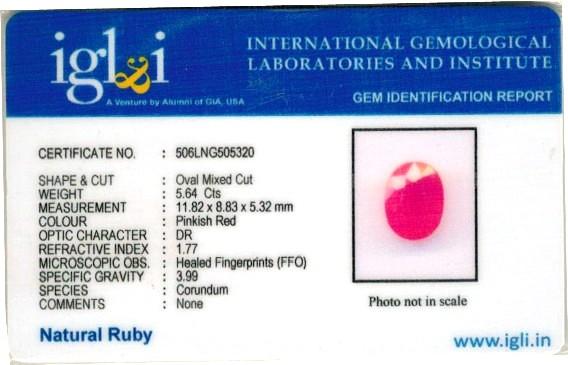 6.27-ratti-certified-ruby-gemstone Certificate (ID-211)