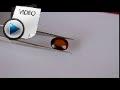 10.85 Carat Hessonite (Gomed) Stone Video