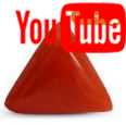 5.67 Carat  Triangular Red Coral Video