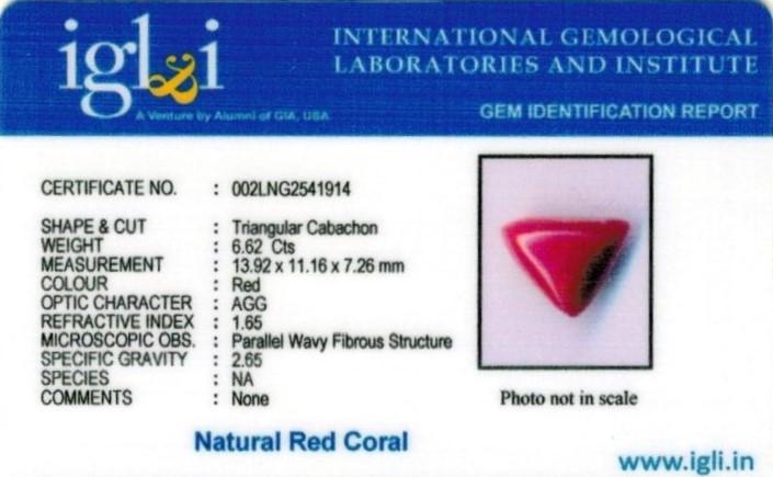 7.25-ratti-certified-tri-red-coral Certificate (ID-1113)