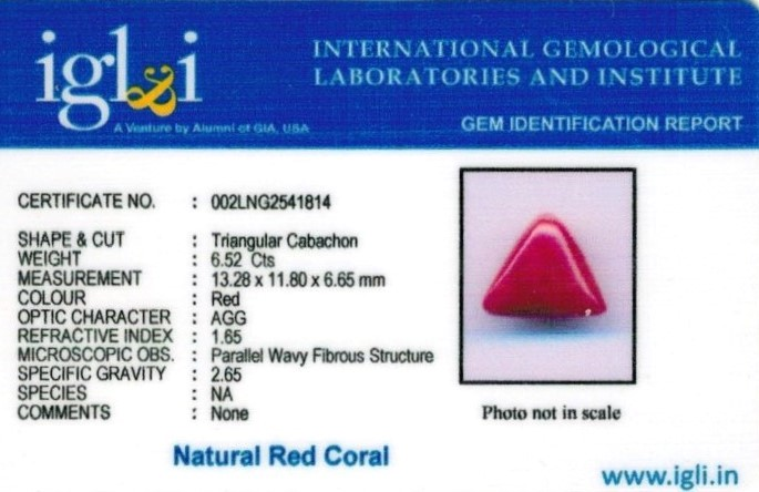 7.25-ratti-certified-tri-red-coral Certificate (ID-1112)