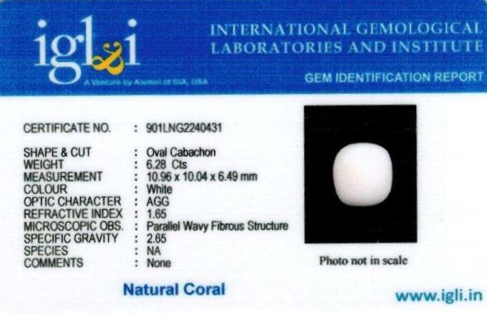 7-ratti-certified-whitecoral Certificate (ID-101)