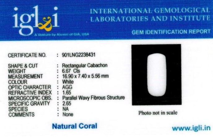7.25-ratti-certified-whitecoral Certificate (ID-102)