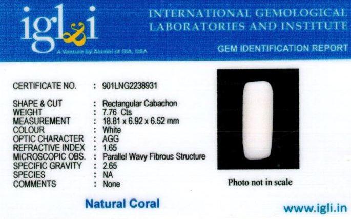 9-ratti-certified-whitecoral Certificate (ID-111)