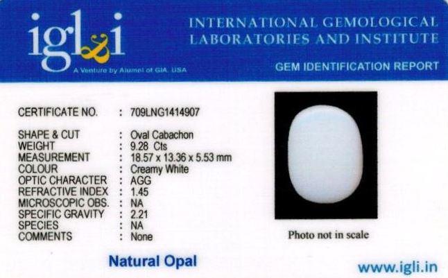 10.25-ratti-certified-whiteopal-stone Certificate (ID-144)