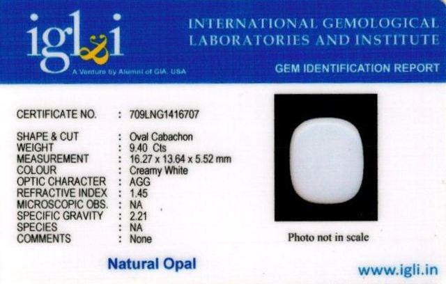 10.25-ratti-certified-whiteopal-stone Certificate (ID-146)