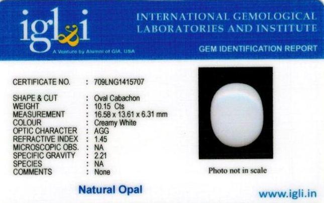 11.25-ratti-certified-whiteopal-stone Certificate (ID-126)
